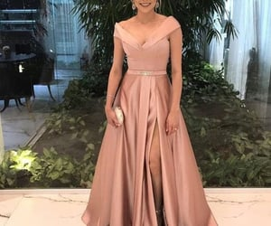 evening gown, elegant prom dress, and prom dresses image