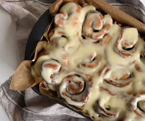 cinnamon rolls, food, and delicious image
