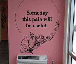 pink, quotes, and pain image