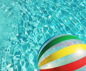 pool, summer, and turquoise image