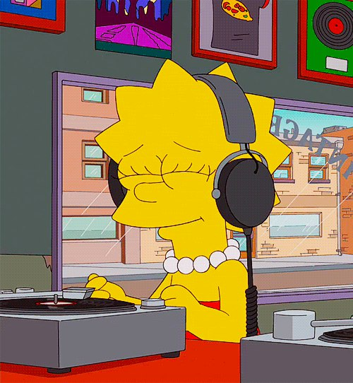 music, simpsons, and cartoon image