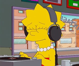 music, simpsons, and cartoon image