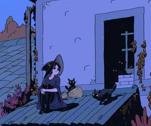 witch, illustration, and art image