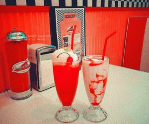 cherry, diner, and red aesthetic image