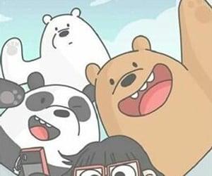 bear, panda, and wallpaper image