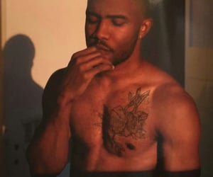 frank ocean, tattoo, and blond image