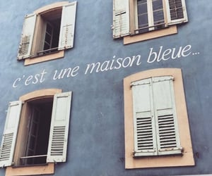 blue, aesthetic, and french image