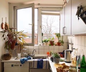 apartment, kitchen, and cozy image