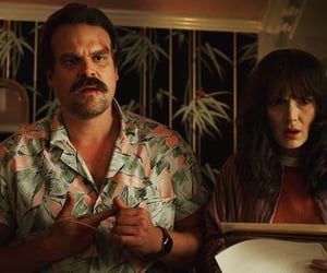 stranger things, hopper, and winona ryder image
