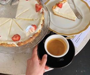 cake, coffee, and comida image