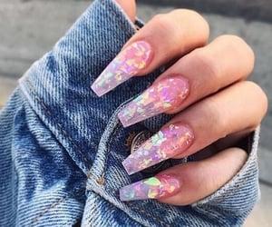 design, long, and nails image
