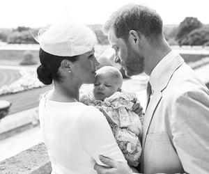 prince harry, meghan markle, and Archie image