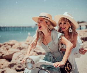 blonde, happy, and lifestyle image