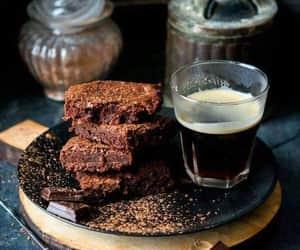 brownies, chocolate, and coffee image