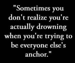 quote, drowning, and life image