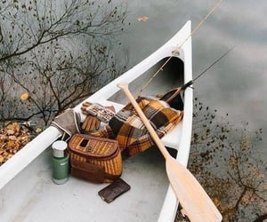 autumn, fall, and boat image