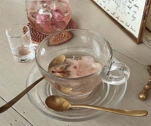 pink, tea, and drink image