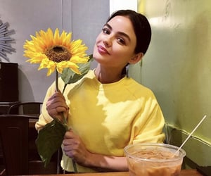 lucy hale and flower image
