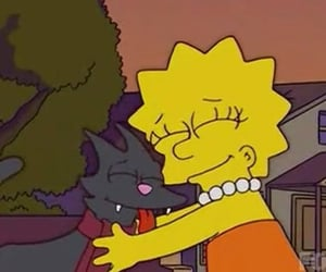 cat, lisa simpson, and simpsons image