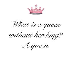 black and white, love quotes, and Queen image