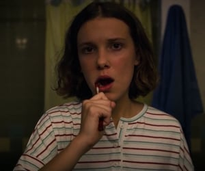 eleven, 011, and stranger things image