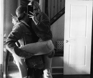 black and white, cute goals relationship, and mirror selfie couple image