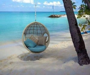 aesthetic, beach, and swing image