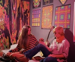 aesthetic, groovy, and hippie image
