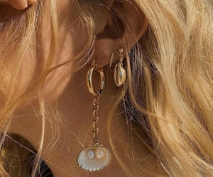 earrings, gold, and aesthetic image