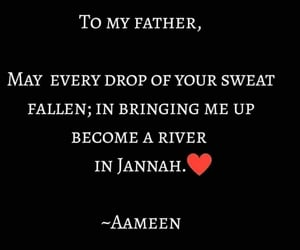 father, jannah, and quote image