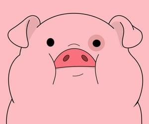pig, pink, and gravity falls image