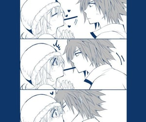 anime, fairy tail, and anime couple image