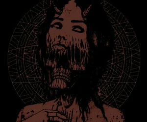 black, dark, and demon image