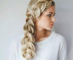 blondie, braids, and fashion hair image
