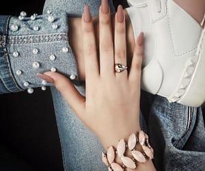 bangle, denim, and nails image