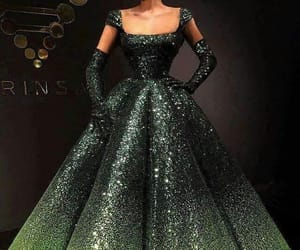 dresses, gowns, and Prom image