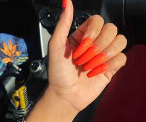 acrylics, long nails, and nails image