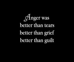 anger, guilt, and black image