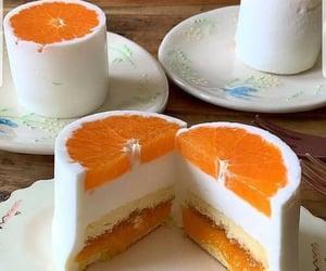 orange, cake, and food image
