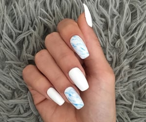blue, fresh, and nails image