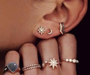 earings, jewellery, and rings image
