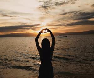 beauty, breeze, and ocean image