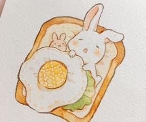 art, bunny, and egg image