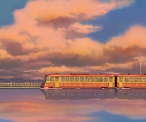 wallpaper, anime, and train image