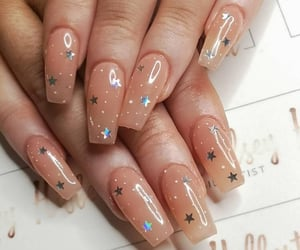 nails, nail art, and stars image
