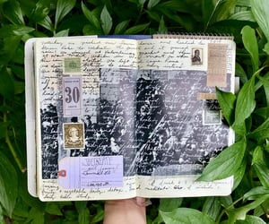 books, diary, and journaling image