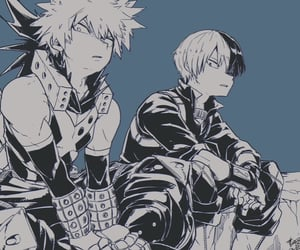 boku no hero academia, bakugou, and todoroki image