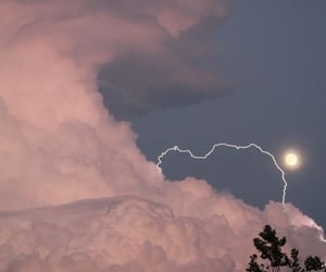 clouds, moon, and aesthetic image