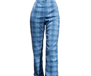 blue, plaid, and pants image