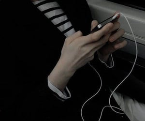 aesthetic, black, and hands image